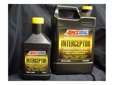 Amsoil Interceptor oil for two-stroke recreational sports vehicle engines.