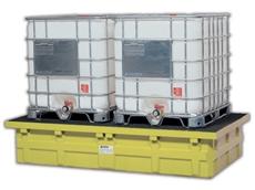 Bulk containment storage unit for hazardous liquids