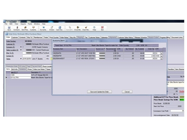 Epicor Wholesale Distribution Screenshot