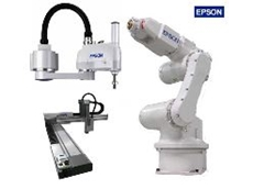 SCARA, cartesian and six-axis robots based on a common PC platform.