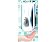 Touch-free soap dispenser from Brightwell