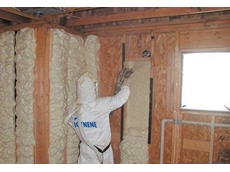Icynene soft spray foam insulation system available from Era Polymers for homes
