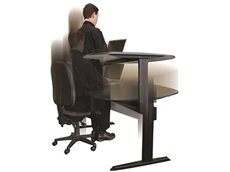 A standing desk can help minimise health risks normally associated with lengthy intervals of sitting at a desk