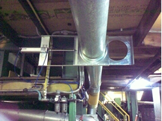 Dunlop self installs Ezi-Duct sealed pneumatic slide dampers for pneumatic conveying system