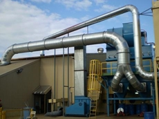 Ezi-Duct Steel Ducting in Dust Extraction System at Bredero Shaw Australia