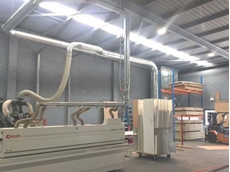 Ezi-Duct dust collector providing low energy performance at Penrith factory