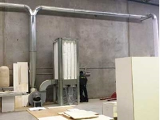 Ezi-Duct self cleaning dust collector installed at Sydney kitchen manufacturer