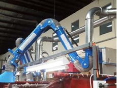 The new welding fume extraction system at the Sydney manufacturing facility