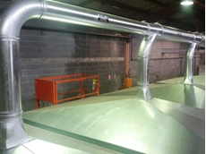 The dust extraction systems were supplied with clamp-together Ezi-Duct modular ducting