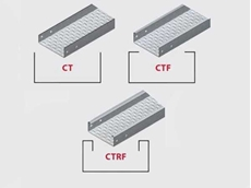 EzyStrut's high sided CT cable tray is manufactured in three main profiles: CT, CTF (with a flange) and CTRF (return flange)