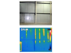 Checking commercial freezer insulation using thermal imaging