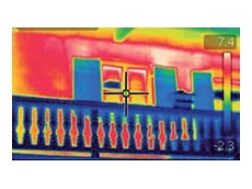 FLIR Systems' infrared camera used for checking building insulation quality