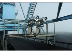 FLIR A310 thermal imaging cameras are mounted in protective housings above the coal transport belts