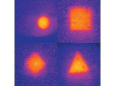 Infrared images of the tested pin shapes
