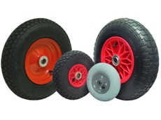 The pneumatic wheel range from Fallshaw Wheels and Castors