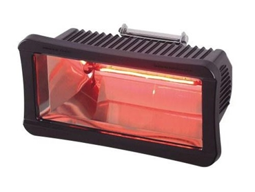 Electric halogen wall mount heater
