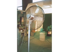Drying at this spray booth is safer with an aluminium air circulator