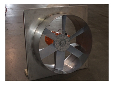 Galvanised, weatherproof exhaust fans