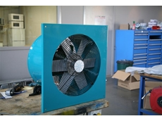 Exhaust fans with spring tensioned belt drives
