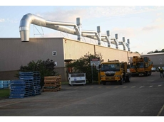 Turnkey ventilation package under installation at a food processing plant