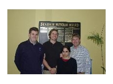 Kerry Dumicich - Fantech Engineering Manager, Stuart Pirie - Engineer Wood & Grieve Engineers, Julie Saunders - Engineer Wood & Grieve Engineers and Peter Cotterell Fantech Major Contract / Project Co-Ord
