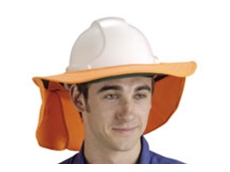 Detachable hard hat brims from Elliotts are made from durable cotton providing excellent sun protection