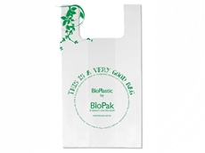 An example of BioPak's starch based compostable bags