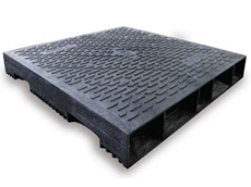 Viscount's Nallyenviropal pallets are made from around 70% plastic milk bottles and 30% stretch wrap