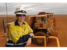 Lisa Mirtsopoulos works as a dump truck driver at Boddington gold mine.