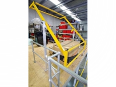 Mezzanine pallet safety gates are designed for use when loading palletised items onto elevated mezzanine areas using a forklift or other lifting device