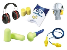 A selection of hearing protection equipment from 3M Safety Products