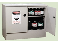 Bowen Group's corrosive substance safety storage cabinets are built to withstand Class 8 corrosive substances