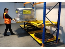 The Roto Rack Roller allows floor based pallets to be lifted to a height of 1500mm