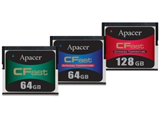 Apacer's newest industrial CFast cards feature a peak reading speed of 160MB/s