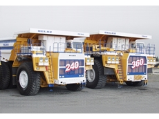The world's largest dump trucks on show at AIMEX