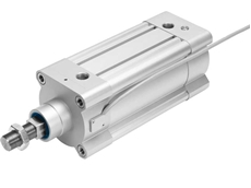 The standard cylinder with piston rod DDPC featuring integrated displacement encoder. (Photo: Festo AG & Co. KG)