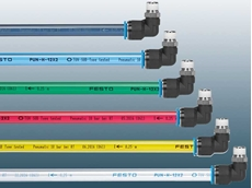 PUN-H-T tubes come in a choice of new transparent colours (black, blue, red, yellow and green)
