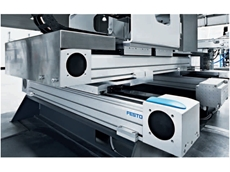 In-line alloy wheel testing system achieves high throughput with Festo's handling gantry