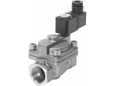 VZWP series servo-controlled solenoid valves from Festo