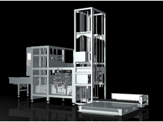Crate Erector stackers palletizers available from Fibre King