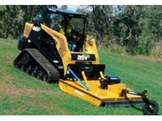 S-Series Skid Steer Rotary Slashers designed to ensure grass won't build up and water isn't trapped