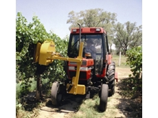 Turbo Pluck vineyard leaf removers are gentle on vines and fruit