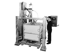 Semi automatic IBC filler model 500 available from Flex Pack Service & Supplies