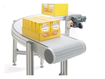 Wide Belt Conveyors with a plastic belt surface
