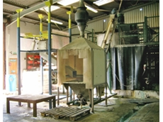 Bulk bag discharge system installed at Omex Agrifluids