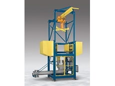 BLOCK-BUSTER hydraulic bulk bag conditioners loosen bulk solid materials that have solidified during storage and shipment