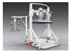 Multi purpose filler features a fill head that seals against the inlet spout of bulk bags, or connects rapidly to gasketted transition adapters that seal against open boxes or drums.