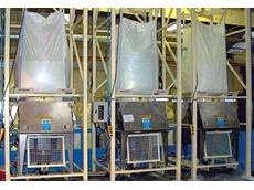 Three identical Flexicon BFC Series dischargers eliminated health, safety and productivity concerns associated with dust emissions and spillage at a UK manufacturing facility