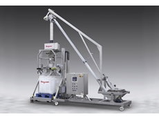 Mobile sanitary bulk bag filling system