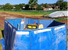 Flexshield acoustic curtains successfully reduced the noise from Allroads' pumps at the Toowoomba project site